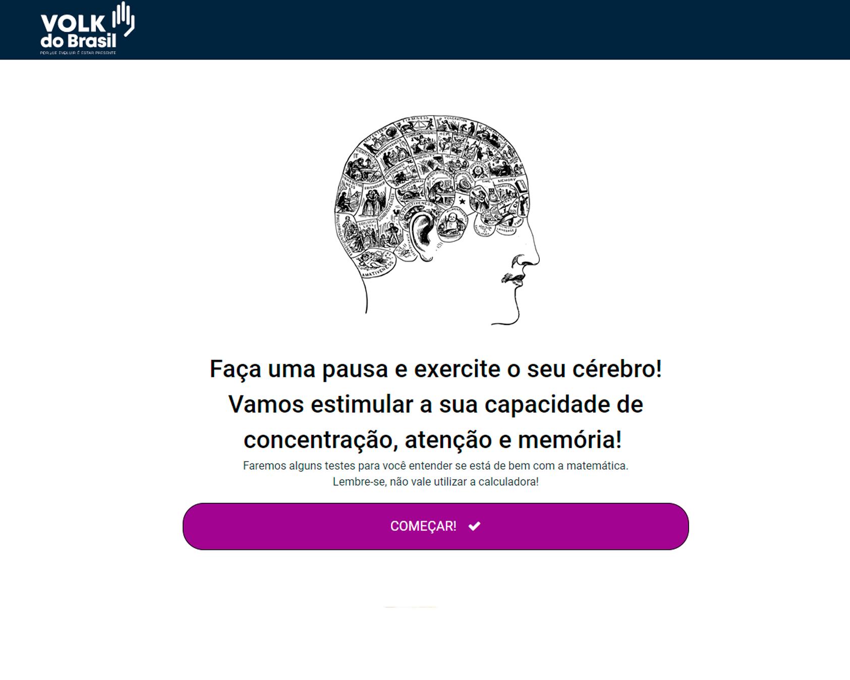 Teste de Matemática - Volk do Brasil